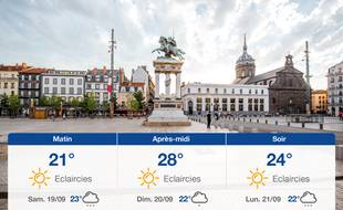 Météo Clermont-Ferrand: Prévisions du vendredi 18 septembre 2020