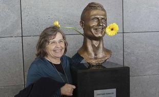 Le buste de Cristiano Ronaldo sur l'île de Madère.