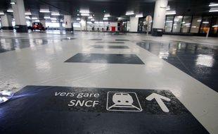 Le parking souterrain de la gare SNCF, à Rennes.