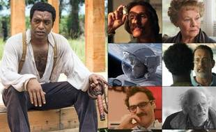 Les neuf films nominés aux Oscars 2014: «12 Years a Slave», «Dallas Buyers Club», «Philomena», «Gravity», «Captain Philips», «Her», «Nebraska», «The Wolf of Wall Street» et «American Hustle».