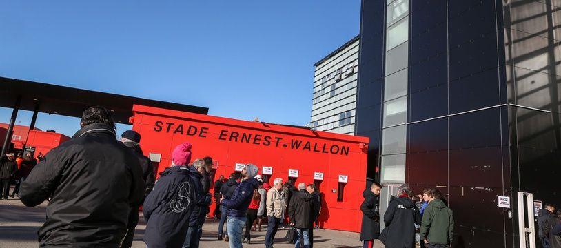 Au stade Ernest-Wallon, en janvier 2020, lors d'un match opposant le Stade toulousain à Gloucester.