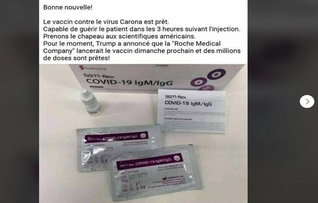 Le laboratoire Roche explique ne pas travailler sur un vaccin.