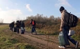 Des migrants près de Dunkerque. (Archives)