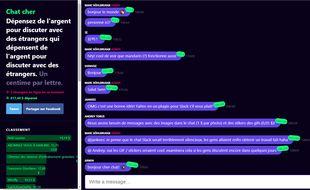 La messagerie Expensive Chat facture 0,8 centime chaque caractère envoyé.
