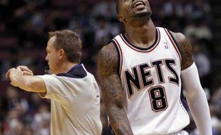Le basketteur des New Jersey Nets, Terrence Williams, lors de la défaite de son équipe face à Dallas, le 2 décembre 2009.