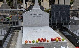 La tombe de Jacques Chirac