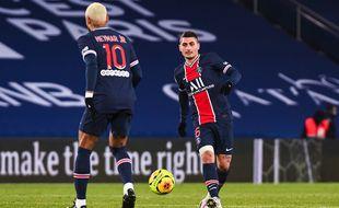 Marco Verratti et Neymar lors de PSG-Bordeaux, le 29 novembre 2020.