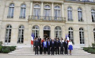 Le gouvernement Valls, le 4 avril 2014 à l'Elysée.