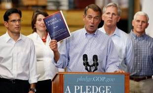Le leader des républicains de la Chambre des représentants, John Boehner, dévoile le programme électoral du parti conservateur, le 23 septembre 2010