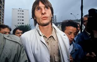 Jacques Glassmann, joueur de Valenciennes, lors du procès de « l'affaire OM-VA » devant le tribunal correctionnel de Valenciennes, le 21 juillet 1993.