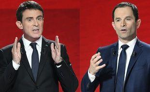 Manuel Valls et Benoït Hamon.