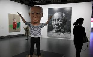 Vue de l'exposition PicassoMania aux galeries nationales du Grand Palais, à Paris, le 6 octobre 2015