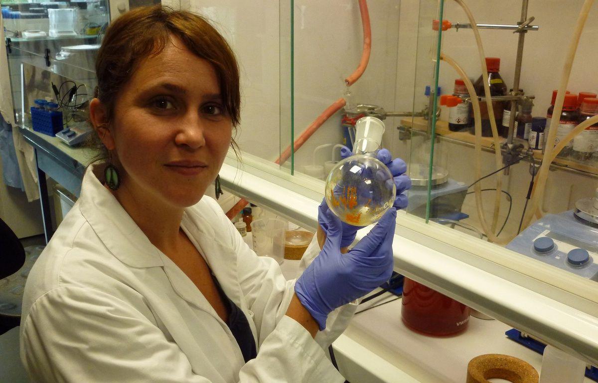Aurélie Juhem dans son laboratoire. – Ecrins Therapeutics