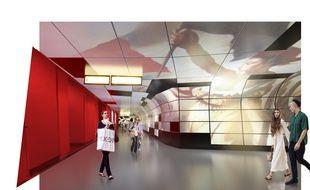Des décors de peinture ou de scènes contemporaines s'afficheront sur les murs de la station de métro Hôtel-de-Ville.
