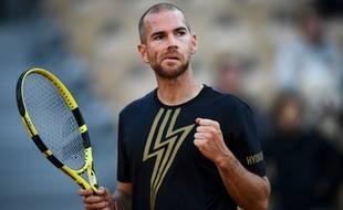 Adrian Mannarino, vainqueur au premier tour de Roland-Garros, le 28 mai 2019.