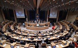 L'hémicycle du Conseil régional de Provence-Alpes-Côte-d'Azur en 2015. (archives)