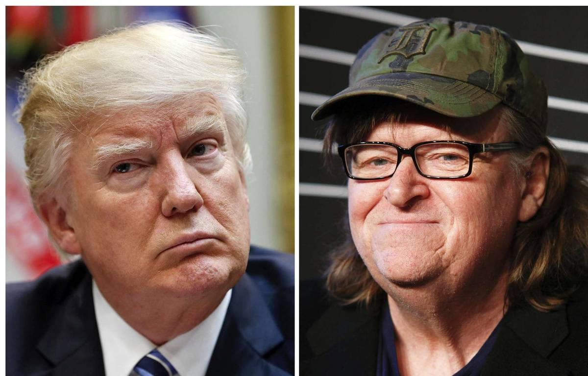 Donald Trump et Michael Moore (montage). – AP/SIPA
