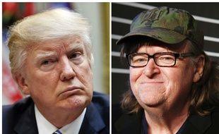 Donald Trump et Michael Moore (montage).