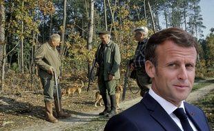 Emmanuel Macron et les chasseurs.