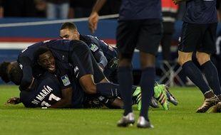 Les Parisiens ont obtenu leur qualification en finale de la Coupe de la Ligue en battant Toulouse le 27 janvier 2016.
