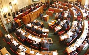 L'hémicycle du conseil général du Nord en 2014.