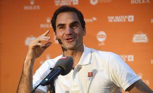 Roger Federer lors d'une conférence de presse au Cap, en Afrique du sud, le 5 février 2020.