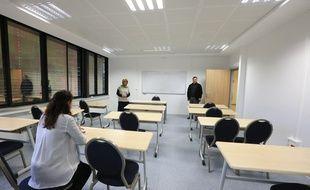 Strasbourg le 06 octobre 2015. Le lycée privé musulman Yunus Emre à Strasbourg dans le quartier de Hautepierre.