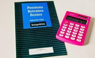 Prospectus du ministère du Budget sur les pensions retraites, et rentes.