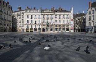 Le square Bouffay, à Nantes, le 23 mars 2020.