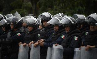 Des policiers anti-émeute mexicains lors de manifestations à Acapulco, dans l'Etat de Guerrero, le 10 novembre 2014