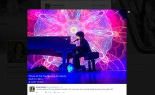 Le dernier concert de Prince, le 14 avril, à Atlanta.