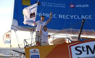 Jean-Pierre Dick et Yann Eliès ont remporté la Transat Jacques Vabre.