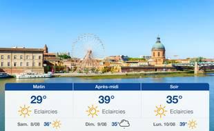 Météo Toulouse: Prévisions du vendredi 7 août 2020
