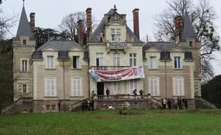 Le château du Tertre de l'université de Nantes occupé par un collectif de soutien aux migrants.