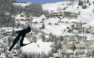 Un sauteur à ski inconnu le 20 décembre 2009 à Engelberg.