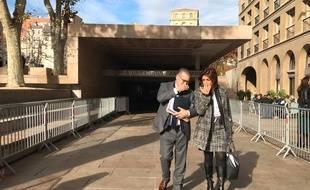 Bruno Gilles et Martine Vassal à la sortie du conseil municipal de Marseille
