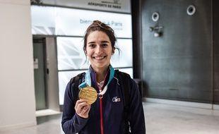 Perrine Laffont a rapporté la première médaille d'or à l'équipe de France aux JO d'hiver de Pyeongchang.