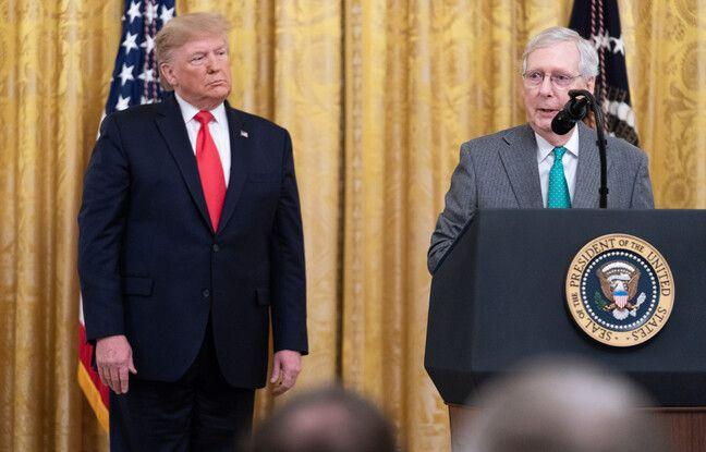 648x415 donald trump leader republicains senat mitch mcconnell 6 novembre 2019