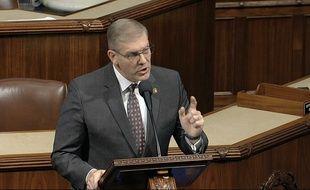 Barry Loudermilk lors du débat à la Chambre des représentants, mercredi 18 décembre.