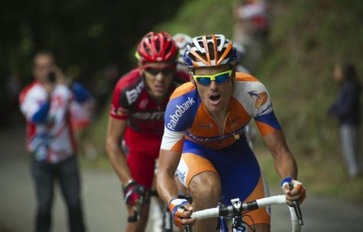L'Espagnol Luis Leon Sanchez (Rabobank) a remporté en solitaire la 14e étape du Tour de France, dimanche, à Foix (sud), dans une étape troublée par un jet de clous dans le final devant le peloton – Lionel Bonaventure afp.com