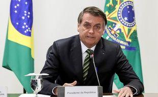 Le président brésilien Jair Bolsonaro à Brasilia, le 27 août 2019.
