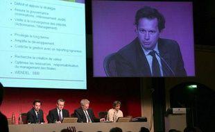 Jean-Bernard Lafonta, Pdt du directoire de Wendel Investissement. Assemblee   generale des actionnaires de Wendel Investissement. Paris, FRANCE-29/05/2006.