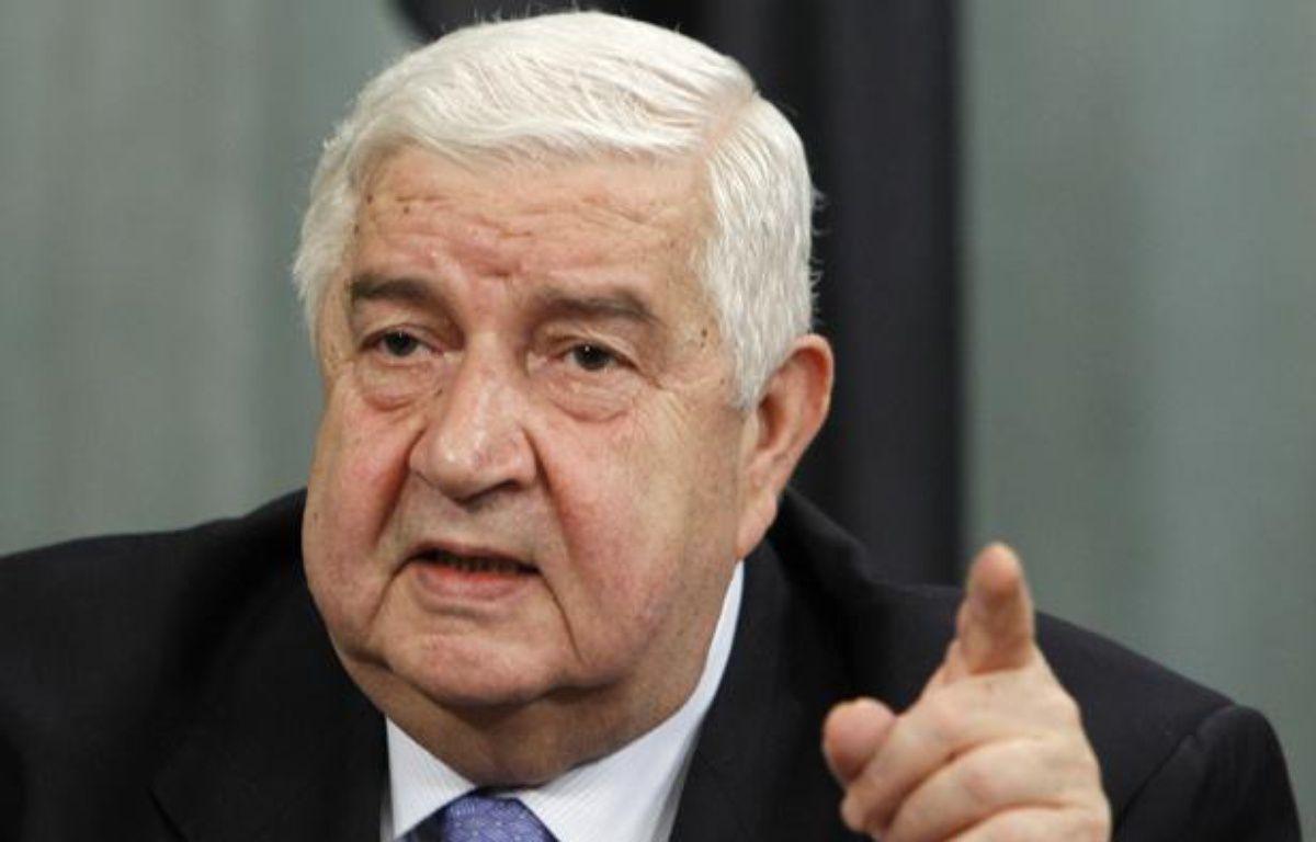Le ministre syrien des Affaires étrangères, Walid al Moualem, le 10 avril 2012, à Moscou (Russie). – D.SINYAKOV / REUTERS