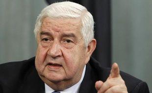 Le ministre syrien des Affaires étrangères, Walid al Moualem, le 10 avril 2012, à Moscou (Russie).