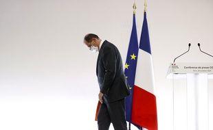 Le Premier ministre, Jean Castex, à l'issue d'une conférence de presse.