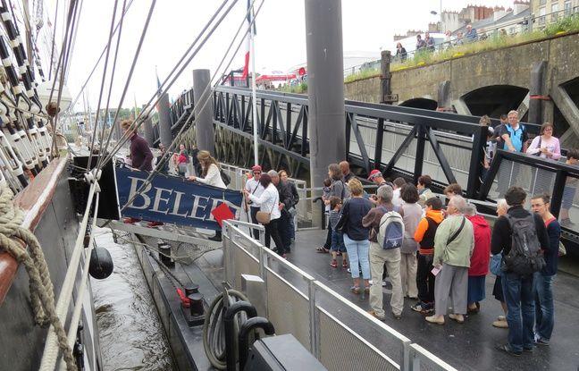 La foule pour accéder au Belem, dimanche 5 juin à Nantes.
