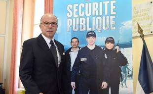 """French Interior Minister Bernard Cazeneuve arrives for a press conference at the police headquarters in Marseille on July 22, 2014, after meeting with police officers of the Bouches-du-Rhone department, including officers from the investigation department tasked with solving homicide cases. Cazeneuve said during the press conference that """"there is no general prohibition of demonstrations in France,"""" referring to the ban of four pro-Palestinian demonstrations over the weekend. """"We had sufficient evidence demonstrating the risk of misconduct,"""" explained the minister. AFP PHOTO / ANNE-CHRISTINE POUJOULAT"""