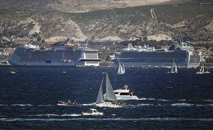 Des bateaux de croisière à Marseille