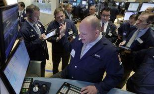 Illustration: des traders à Wall Street.