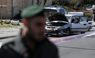 Une voiture bélier à Jérusalem, le 6 mars 2015. Illustration